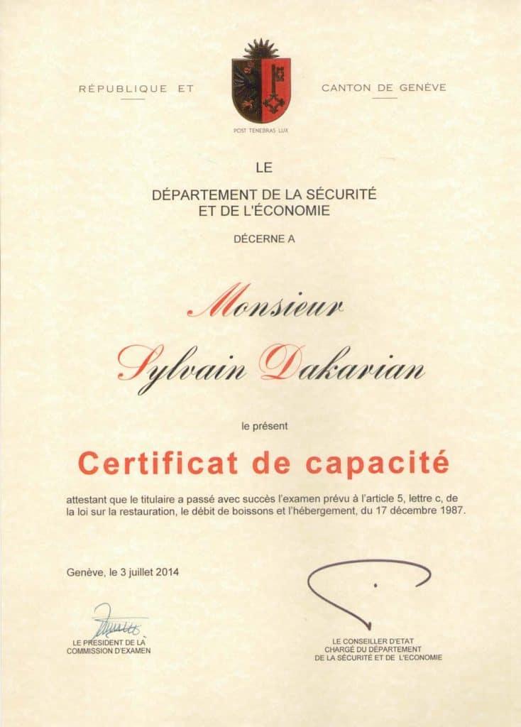 Cartificat Dakarian Odelis